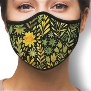 IN STOCK FAST SHIP Yellow Lily Nose Mouth Mask